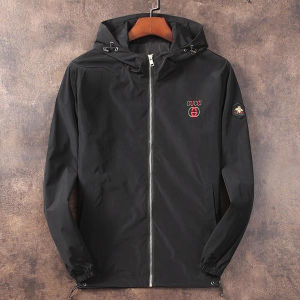 Fashion Jacket Casual Windbreaker Long Sleeve Cotton Blend Size M-3XL One Coler Mens Jackets Zipper Pocket Animal Flower Letter Pattern-