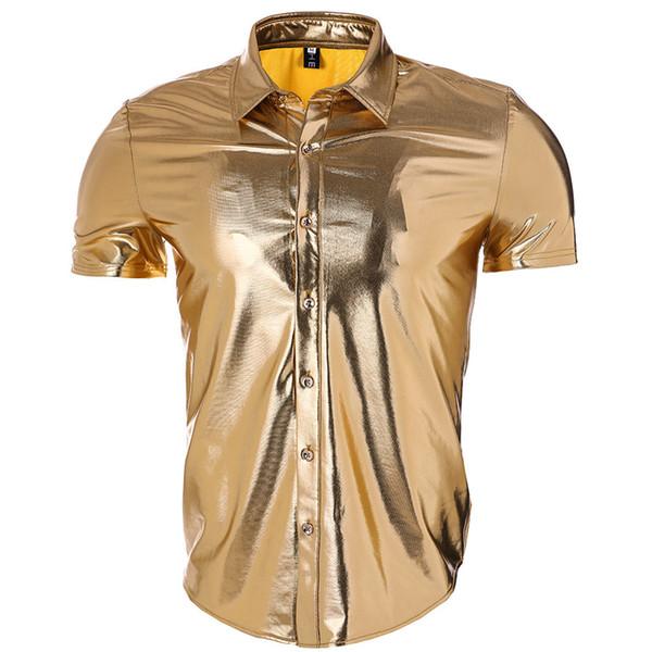 Pop2019 Handel Männer Wear Night Shop Atmosphäre Licht Nudeln Beschichtung European Short Sleeve Revers Shirt Zweite Ma Sun Muster