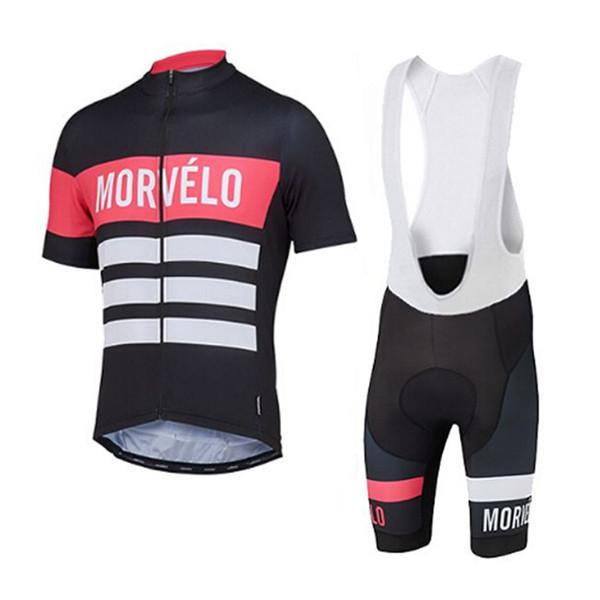 Morvelo team Cycling Short Sleeves jersey bib shorts sets Summer Men's Windproof Breathable Outdoor Sports Jersey Set shorts sets 04852