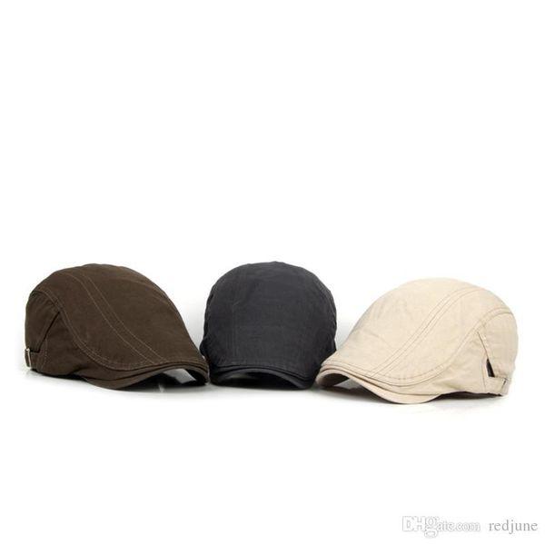Men and Women Beret Hat Adjustable Beret Caps Spring Summer Outdoor Sun Breathable Bone Flat Berets Cap Hat