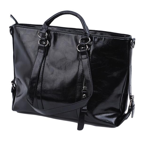 New Vintage Ladies Handbag Pu Leather Bags Office Tote Briefcase Female Shoulder Messenger Bags For Women 2019 Travel Bag