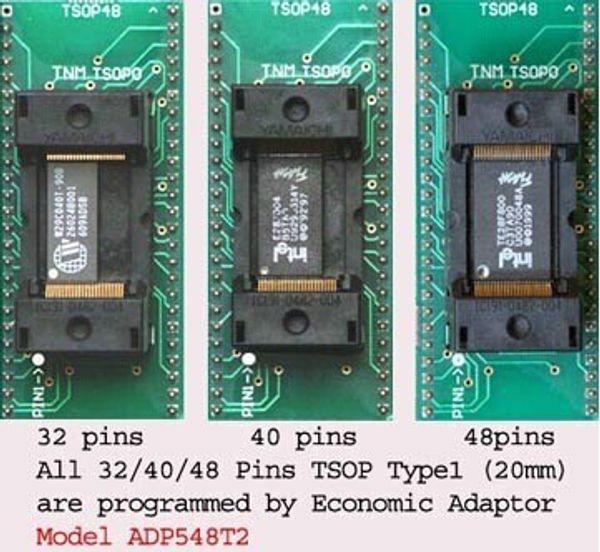 Freeshipping Original TNM TSOP32/40/48 ADP548T2 for all TSOP48/40/32 chips nand flash adapter socket for TNM5000 USB Universal Programmer