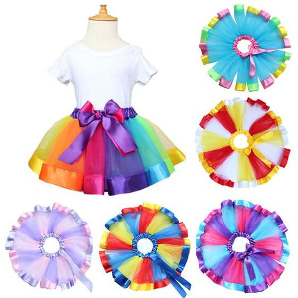 Girls Clothing Baby Girl Dresses Tulle Cake Skirt Kids Dance Wear Children Boutique clothing Tutu Dance Skirt baby Outfit 0-8T XZT067