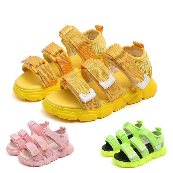 Children's Sandals New Boys Soft-soled Casual Sandal and Girls Colored Beach Shoes 2019 Princepard Summer Sandals #27
