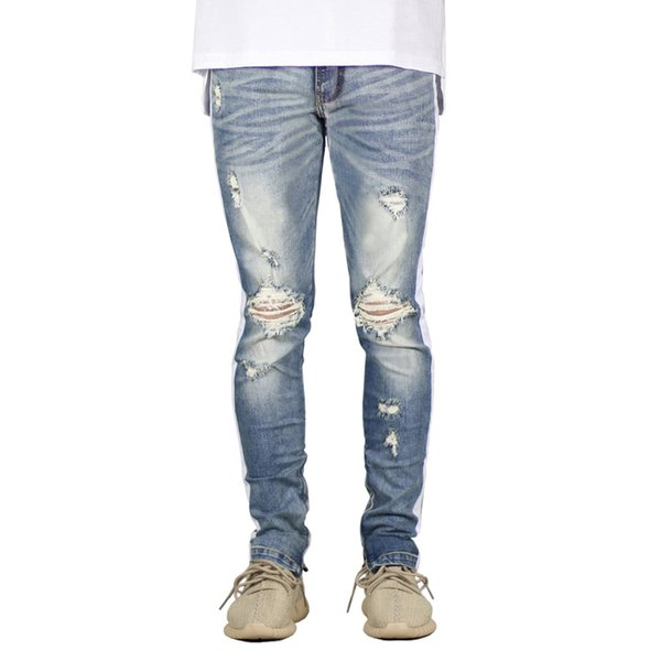 2020 Mens Street Style Jeans Vêtements Printemps Nouveau Mode Pantalons longs Zipper Crayon Pantalones