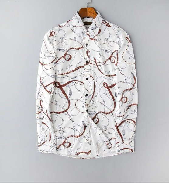 Style-7,S QHF Mens Hawaiian Printed Shirt Men Short Sleeve Shirt Casual Beach Shirts Slim