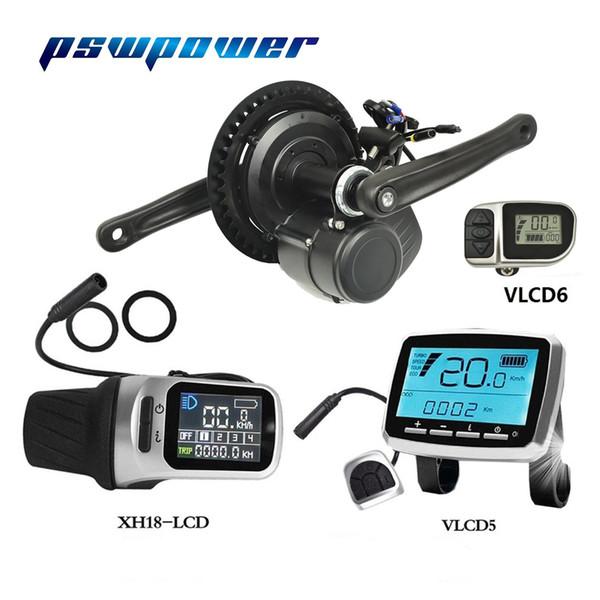 Europa oder China Lager Tongsheng 36V 250W / 350W TSDZ2 VLCD5 XH-18 VLCD6 LCD elektrisches Fahrrad zentraler Mittelmotor mit Drehmomentsensor