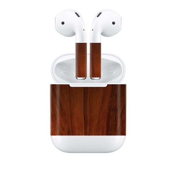 Fanstore Wood Design Skin Sticker Vinyl Decal Skin Cover for Apple Airpods Earpiece Wrap