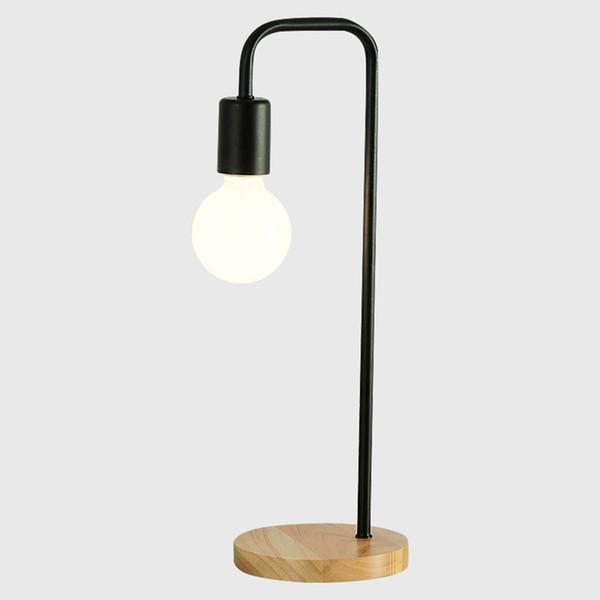 Acheter Moderne En Bois Lampe De Table Blanc Bureau Noir Bureau Lumiere Chambre Lampe De Chevet Mode D Etude Rechauffez Mini Table Lumineuse De