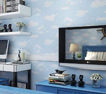 Großhandel Blauer Himmel Weiße Wolken 3D Fototapete Murals Kinderzimmer  Schlafzimmer DIY Wanddekoration PVC Selbstklebende Wasserdichte Tapete Von  ...