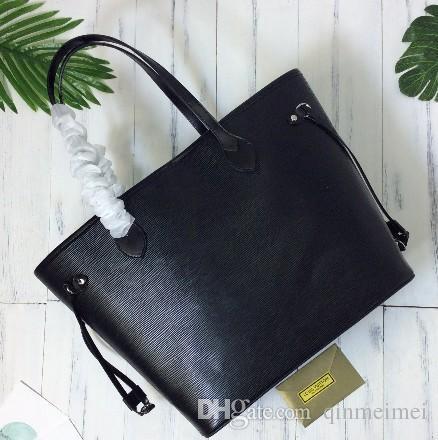 EPI Wasser Welligkeit Oxidieren Lederqualität NIE VOLL Frauen Handtasche GM / MM Umhängetaschen Totes 40882 schwarz und rot Farben