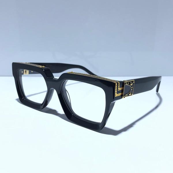 lente transparente negro