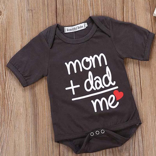 2019 INS Summer Newborn Baby Clothes Boy Girl Kids Cotton Bodysuit Funny Cute Kawaii Outfits Infant Short sleeve Jumpsuit Daddy gif