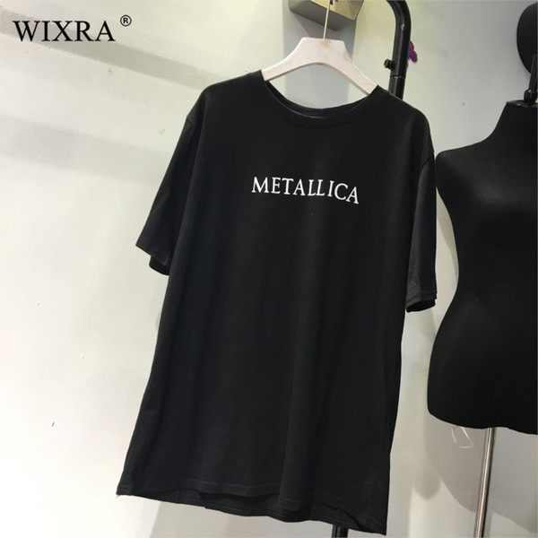 Wixra Women Stylish Letter Print Tee Soft Solid Loose O-Neck T-Shirts Ladies Casual Womens Clothing 2019 Summer Hot