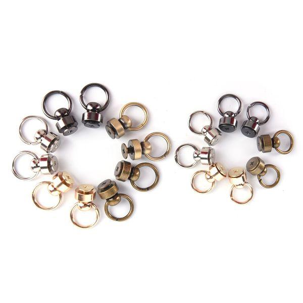 10pcs DIY Handmade DIY Bag Parts & Accessories Luggage Bag Buckle Tongs Snap Hook Ring With Screws Silver Gun Black bronze Gold