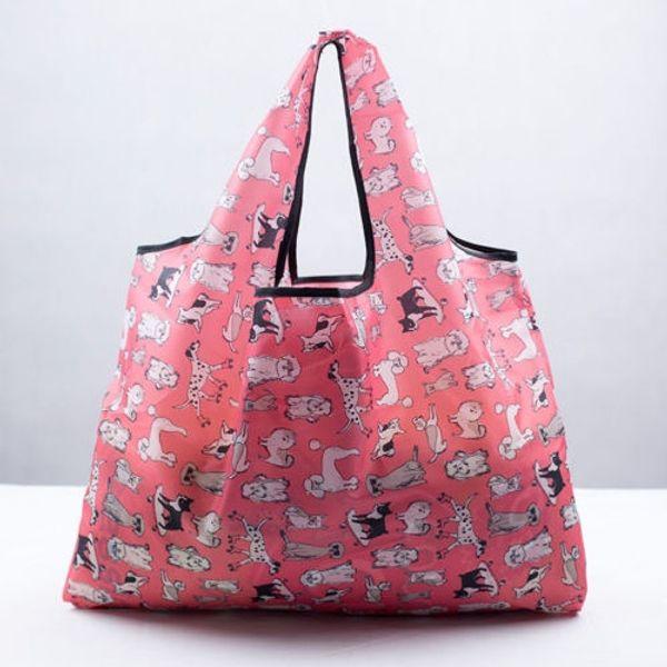 Dobrável Handy Sacos de Compras Reutilizáveis Tote Bolsa Reciclar Sacos de Compras De Armazenamento Oxford Casual Eco Friendly Bag # 89909