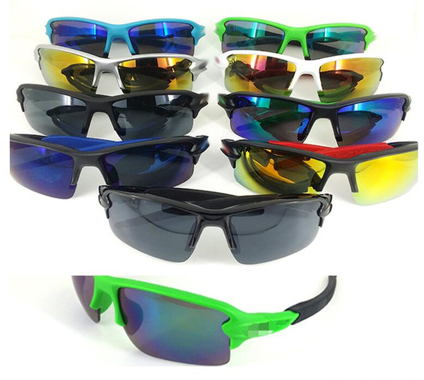 Brand Cheap Sunglasses for Men and Women Outdoor Sport Sun Glass Brand Designer Sunglasses driving cycling Sunglasses 9 Colors free Shipping
