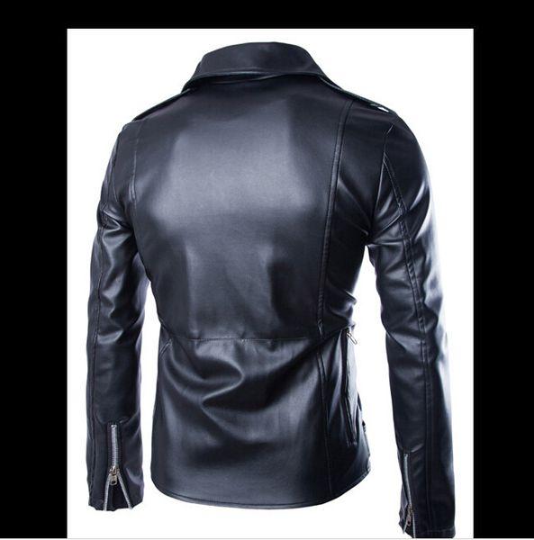 2019 Brand Designer Men Leather Jacket Coat Fashion Lapel Neck Men S Jacket Locomotive Style Slim Fit Leather Clothing Wholesale Italian Leather Jackets Jacket Coat From Lin357597116 86 77 Dhgate Com