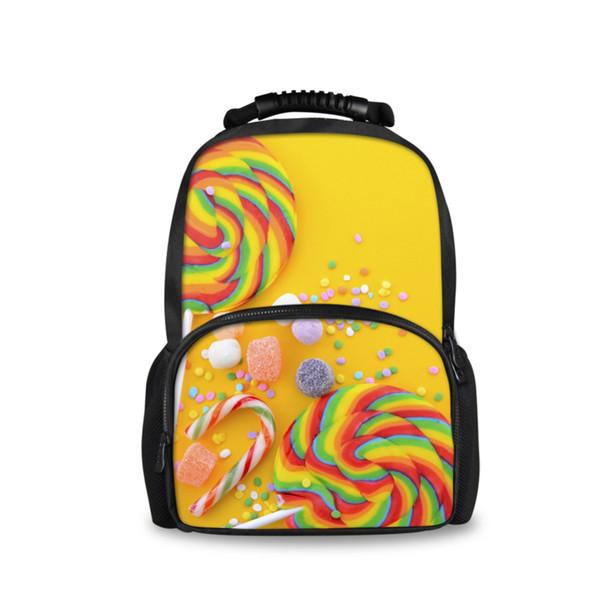 Noisydesigns Preppy Candy Pattern Schultaschen für Kinder Lollipop Printed Girls Teenager Schultasche Kinder Bookbag Women Bag
