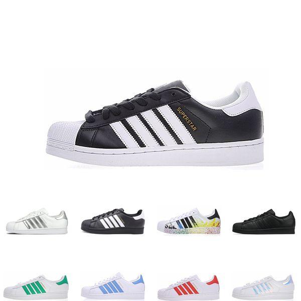 Designer superstar scarpe casual stile sneakers nero bianco rosso verde blu uomo di alta qualità Donne scarpe piatte Superstars taglia 36-45