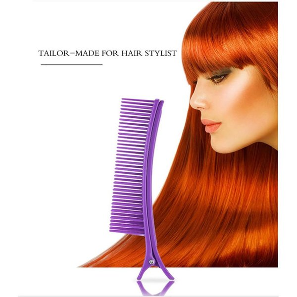 Prong Clip Salon Hair Sectioning Comb Hairdressing Clip Clamps Duckbilled Hairpin Track-free on hair Styling Tools