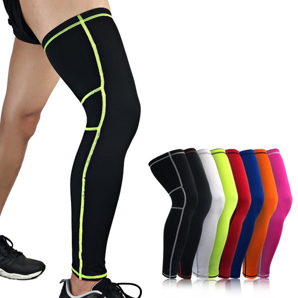 1pc Long Knee Support Pad Sleeve Polyester Spandex Anti Slip Breathable Elastic Outdoor Fitness Leg Protector New