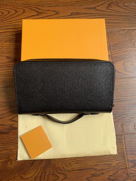 VENTE CHAUDE en cuir véritable Kasai noir gris plaid brun mono poignées de paume avec sacs à main pour hommes femmes Pochette CANVAS TOILETRY sacs M61506