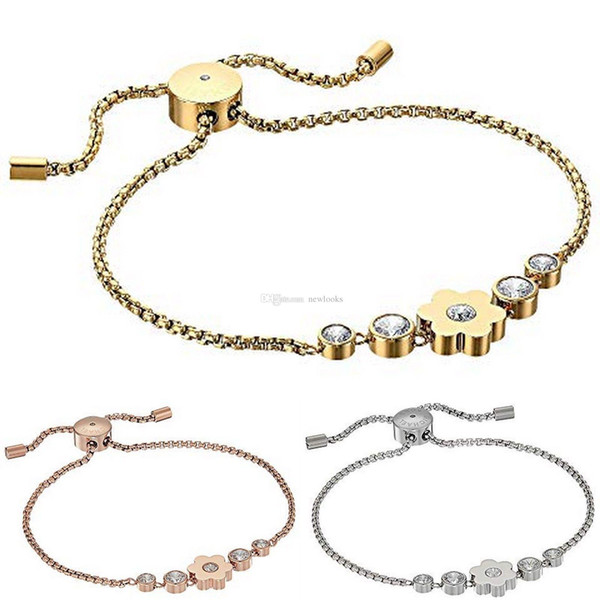 Alloy key bracelets with love heart gem 925 sterling silver or gold plated pendants Charm Bracelets Bangle jewelry for men women