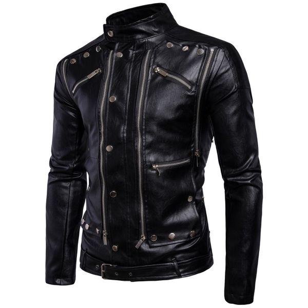 Mens Motorcycle Jacket New Vintage Genuine Leather Motocross Coats Clothes Fashion Pilot Slim Motorcycle Imported Jacket