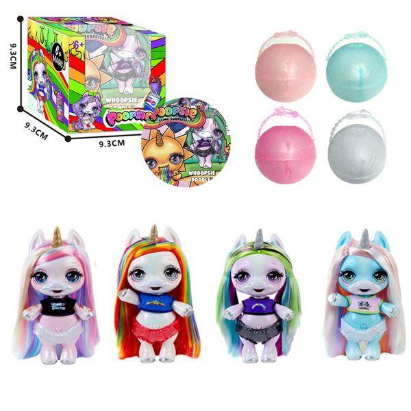 Lol Poopsie Slime Unicorn Toys Set de Juguetes Una Bola de Juguete Babys Botella Doble Retráctil Juegos de Cuatro Piezas Juegos de Muñecas Sorpresa para Niños 13dwE1