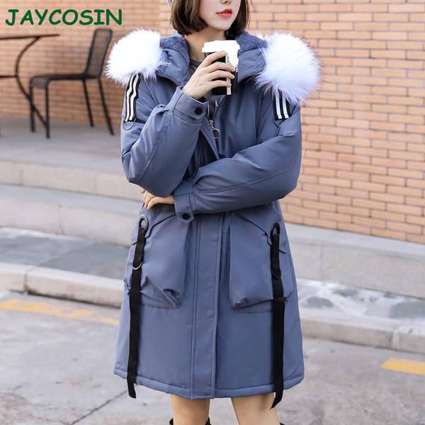 JAYCOSIN Clothes Women Plus Size Winter Warm Thick Outerwear Women Fashion Jacket Slim Cotton-padded Hooded Coat Female 1016