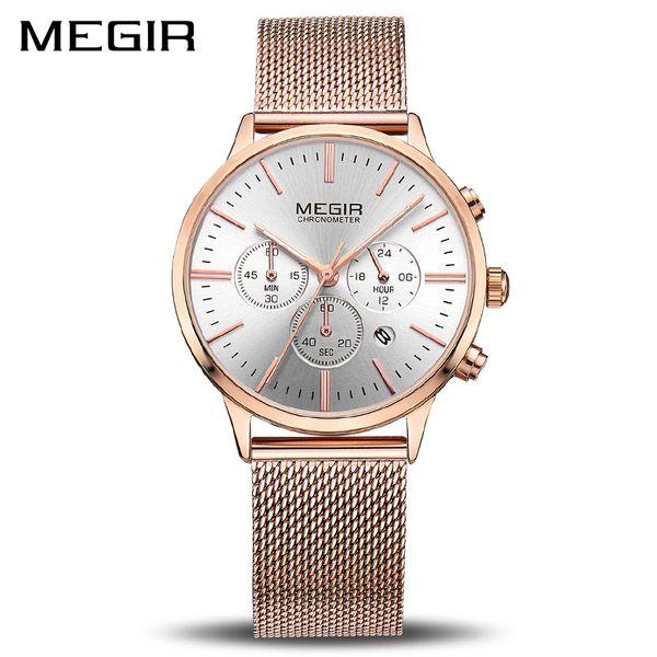 Megir Brand Luxury Women Watches Fashion Quartz Ladies Watch Sport Relogio Feminino Clock Wristwatch For Lovers Girl Friend 2011 Q190430
