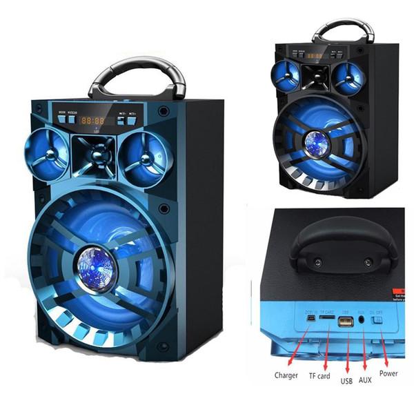 Big Outdoor Camping KTV AUX Lautsprecher Tragbare Drahtlose Bluetooth Sound Box HIFI Musik Subwoofer Unterstützung SD TF Mp3 Player USB