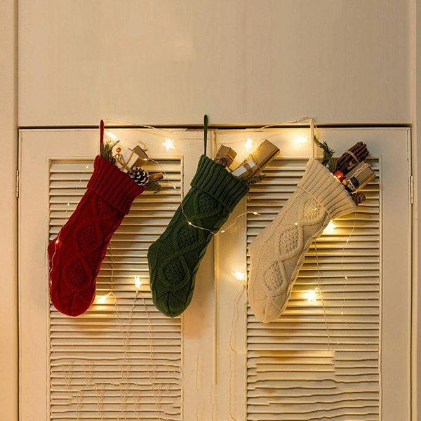Weihnachtsdekor Partydekorationen Weihnachtsmann Weihnachtsstrumpf Süßigkeiten Socken Geschenke Tasche Für Zuhause Weihnachtsbaum Dekor