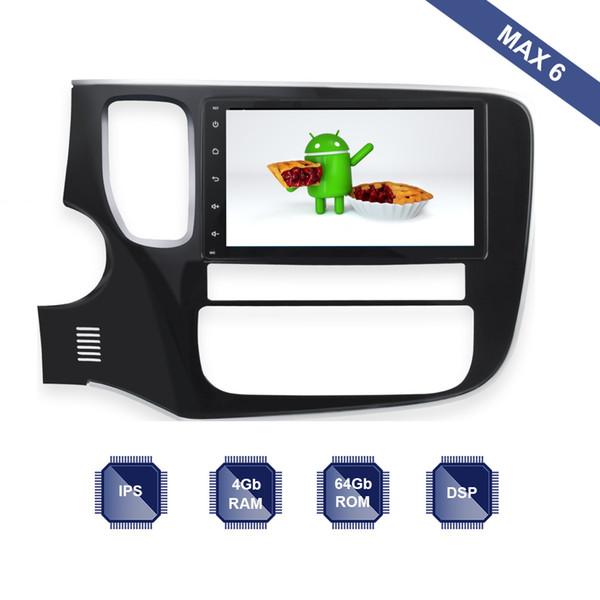 Android 9.0 Autoradio 2 Din GPS Navi für Mitsubishi Outlander 2013 2014 2015 2018 PX6 DSP IPS-Bildschirm 4 Gb + 64 Gb 6-Core RDS WIFI BT