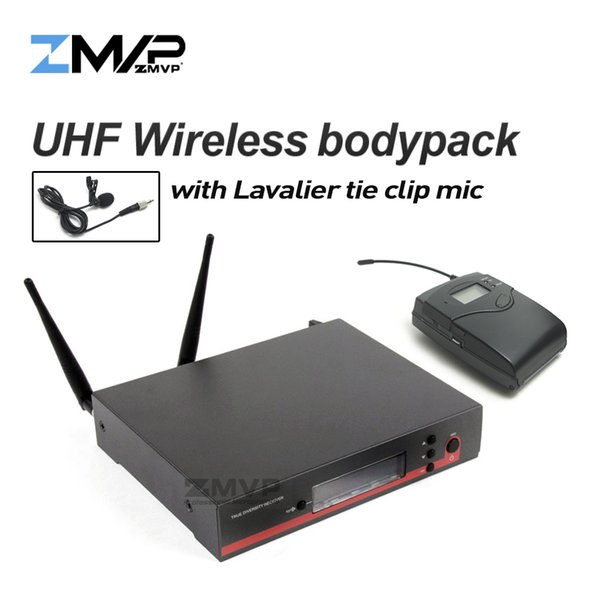 Professional EW122G3 UHF Wireless Microphone Karaoke System with EW100G3 Cordless Bodypack Transmitter Lavalier Lapel Clip Mic