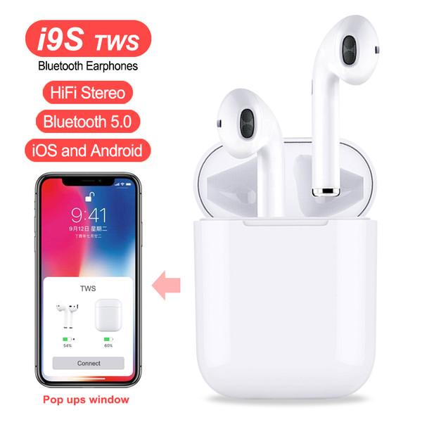 Auricular inalámbrico I9S TWS Auricular invisible Auricular Bluetooth portátil Mini Auricular Bluetooth con micrófono para iPhone Android con paquete