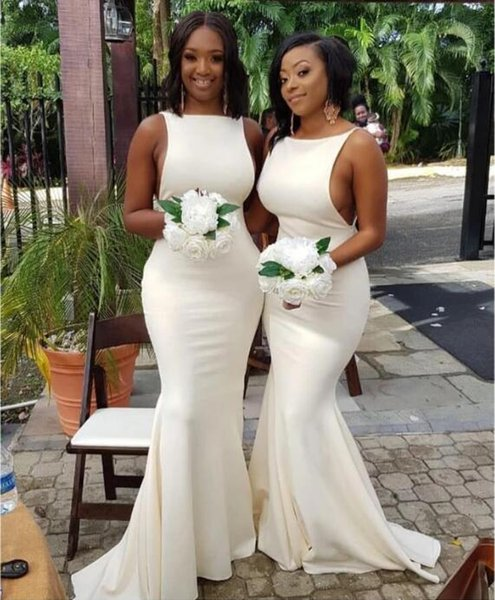 2020 New Black Girl African Plus Size Bridesmaid Dresses Cheap Simple  Designs Mermaid Wedding Guest Dress Formal Maid Of Honor Dresses Unique ...