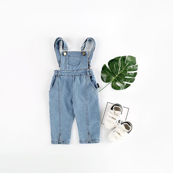 2019 Spring New Baby Boys Overalls Toddler Girls Clothing Children Denim Pants Brand Girl Overall Jeans Kids Jumpsuit Bib Pants