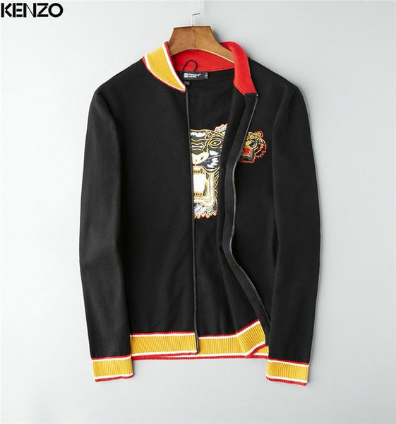 11 ESTILO Nova moda italiana jaqueta homens jaqueta formal Clássico Plano Casamento Bordado camisola preto cinza vermelho tamanho dos homens M-3XL