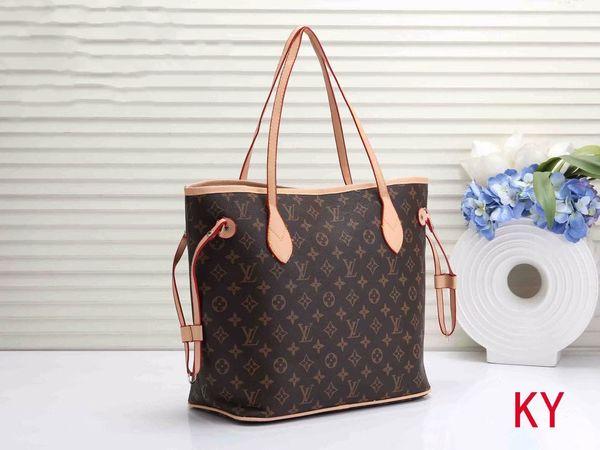 Diseñador de la venta L Carta NEVERFULL bolso de cuero viejo Flor Brown Bag Pink impresión monedero manera de las mujeres muchachas de los bolsos de la Bolsa