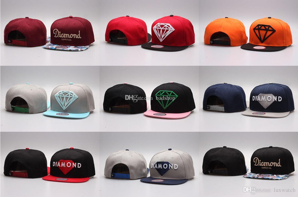 Hot Cinco 5 Painel de Diamante Snapback Caps Cap Hip Hop Bonés de Beisebol Do Osso Chapéus Lisos Chapéus Casquette Gorras Planas Osso Aba Reta Toca Ajustável
