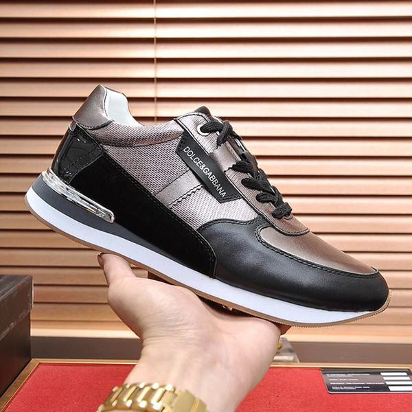 Clásica para hombre de moda los zapatos de lujo cómodo más el tamaño de las zapatillas de deporte-top con cordones de los hombres del diseño del estilo de los zapatos ocasionales de Scarpe da uomo di Lusso