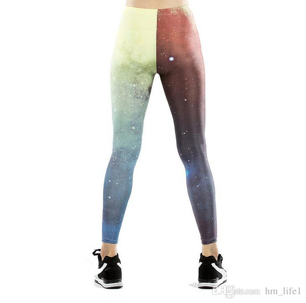 Mulheres Calças de Yoga Calças Impressão Digital Digital hot splice Impressão Meia-calça senhora Cintura Alta Atividade de Dança Leggings Calças Justas