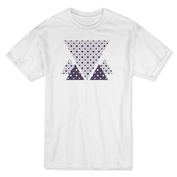 Triângulos abstratos T-Shirt dos homens T-shirt Legal Engraçado T Shirt Dos Homens de Alta Qualidade Tees Clássico Tops Camisetas