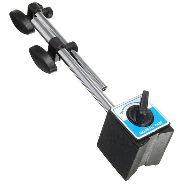 top popular Freeshipping Magnetic Base Holder With Double Adjustable Pole For Dial Indicator Test Gauge 2021