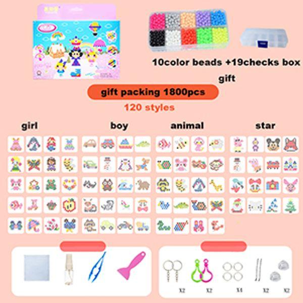 Color: caja de almacenamiento 1800pcs