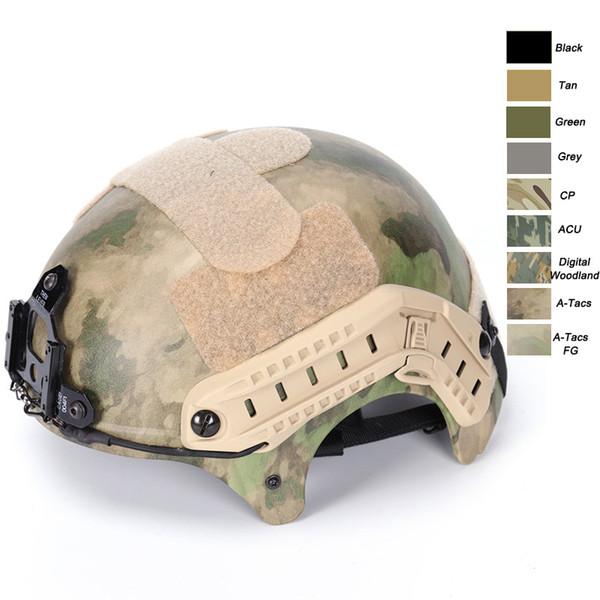 Equipamento ao ar livre Airsoft Paintabll Tiro Capacete Cabeça Proteção Engrenagem ABS IBH Estilo Tactical Airsoft Helmet