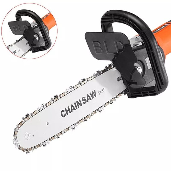 Standard Edition 11.5 Inch Chainsaw Bracket Changed Angle Grinder Into Chain Saw Woodworking Tool Replacement