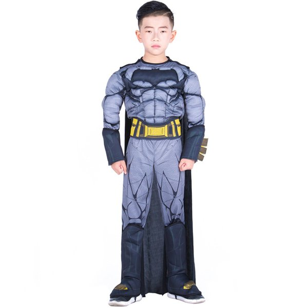 New Halloween Masquerade stage performance Children cosplay Black batman Hero series Costumes christmas gift for children